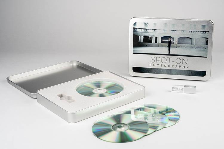 Boîte Métal CD/DVD et USB