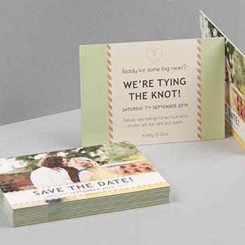 Cartes Postales à tranche colorée