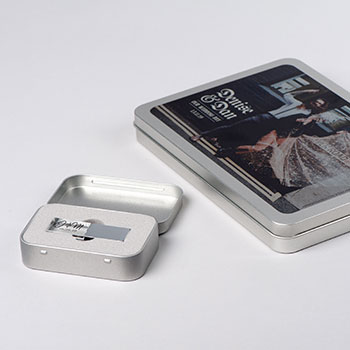Personalised USB Tin Metal Boxes