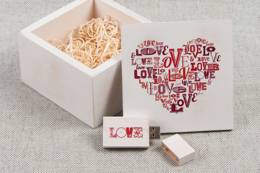 Personalised Vintage USB Boxes