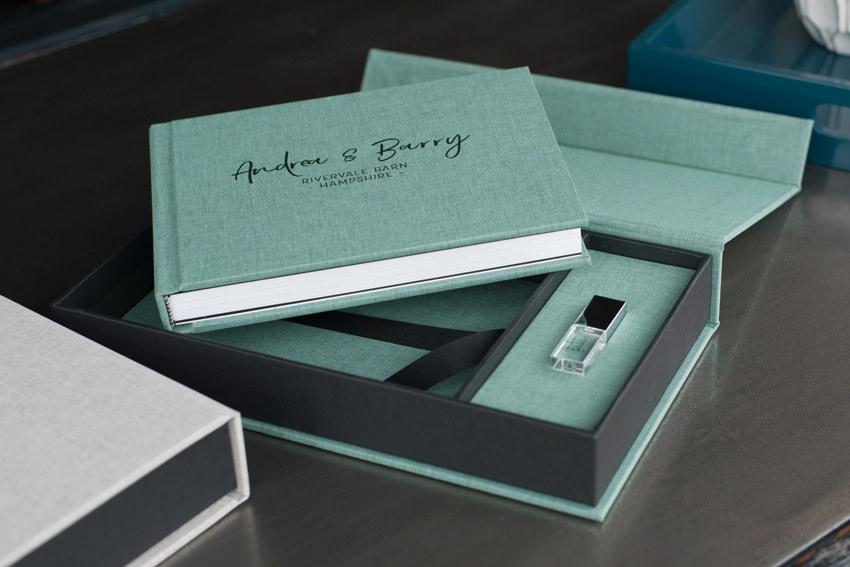 Linen Photo Book + USB Box